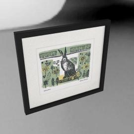 Adelene Fletcher - Spring Hare Framed Print, 49 x 44cm