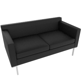 Theatre Two Seater, Vienna leather, Ebony