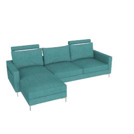 Stanley Corner Sofa Left Turquoise Blue