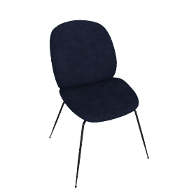 Beetle Side Chair, Navy