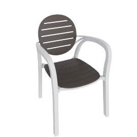 Dionysus Patio Chair, Brown
