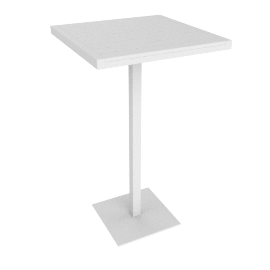 Eos Bar-Height Table, White