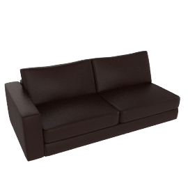 Reid One Arm Sofa, Left In Leather, Stout