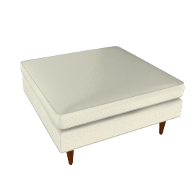 Bantam Cocktail Ottoman - Vienna Leather.Ivory