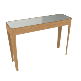 John Lewis Domino Glass Top Console Table