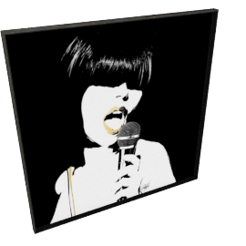 Glam Rock II by KelliEllis - 54''x54'', Black