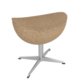 Egg™ Footstool - Fame Fabric - Cream