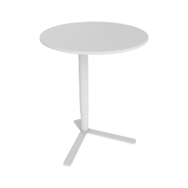 Yo Adjustable Side Table, White