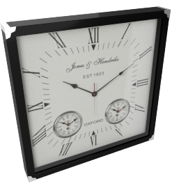 Ebony Worldtimer Wall Clock