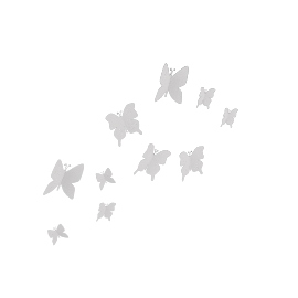 Umbra Mariposa Butterfly Wall Decor, White, Set of 9