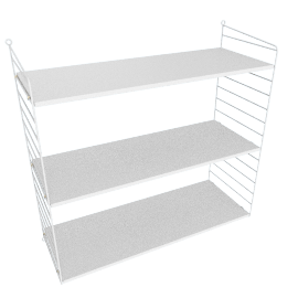 String Wall Shelving - 1 Bay - 32'', White