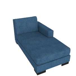 Signature Chaise Right, Blue
