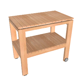 Elan Serving Trolley - Teak