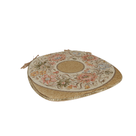 Majolika Jacquard Chair Pad, Gold