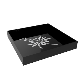 Mother-of-Pearl Tray, Black