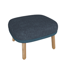 Ro Footstool, Dark Blue