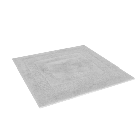 Aristocrat Plush Square Bath Mat, White