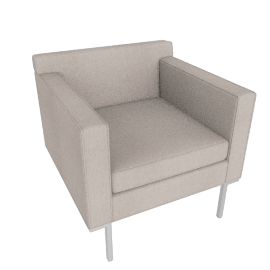 Theatre Armchair, Pebble Weave, Buff