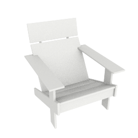 Lollygagger Lounge Chair, White