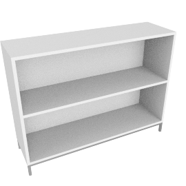 Sapporo Shelving, Two High - White