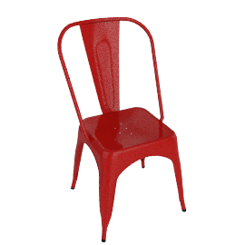 Pair of Legend Café Chairs, Red