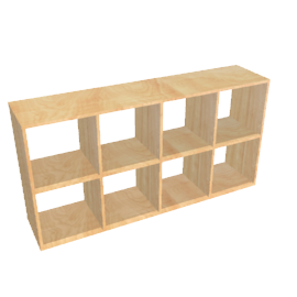 Largo Low Room Divider, Oak