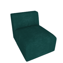 Juno modular - Single Seat, Seafoam Blue Velvet