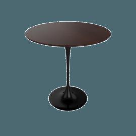 Saarinen Side Table - Veneer - Black.DrkWalnt