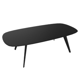 Solapa Coffee High Table, Black