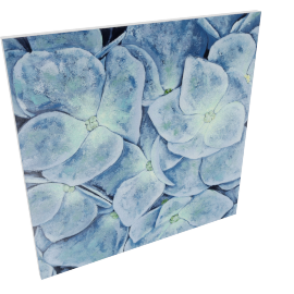 Blue Petals Handmade Painting - 100x100 cms