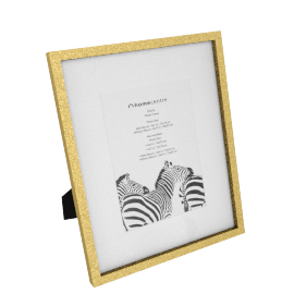 Gloria Photo Frame Matted - 8x10 inches, Gold