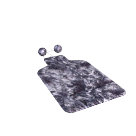 Hot Water Bottle With Faux Fur Cover, Grey