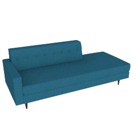 Bantam Studio Sofa Left Facing, Linen Weave Fin