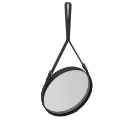 Adnet Mirror, Medium - Black