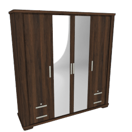 Optec 4-Door Wardrobe