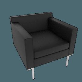 Theatre Armchair, Vienna Leather, Ebony
