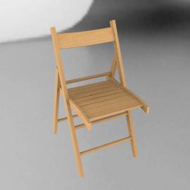 Buiani Folding Chair, Beech