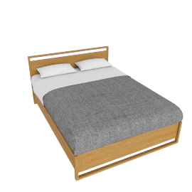 Matera Bed With Storage - Queen - Oak