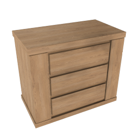 Keep Oak 3 Drawer Chest, Oak