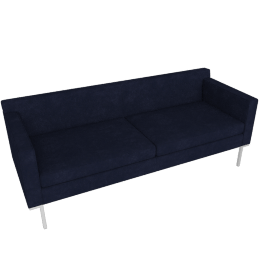 Theatre Sofa, Lama Tweed Fabric, Indigo