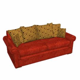 Ashley Large Scatter Back Sofa, Red