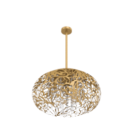 Golden Disco 3-Lights Pendant Lamp