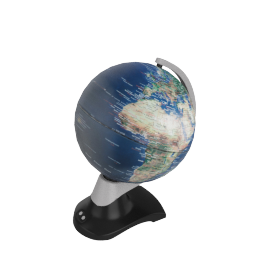 Rotating Globe LED Lamp
