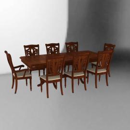 Cic Juego de Comedor extendible 6 sillas + 2 sitiales Ascot