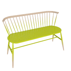 Originals Loveseat Colour Finish, Graded Chartreuse