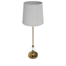 Snowdrop Crystal Ball Table Lamp