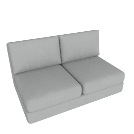 Eterno 2- Seater Sofa, Grey