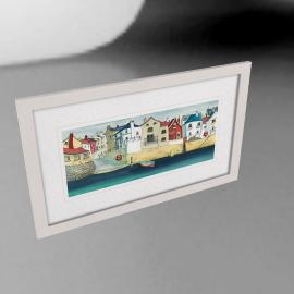Catherine Stephenson- Quayside Framed Print, 88 x 53cm