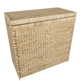 Water Hyacinth Double Linen Basket