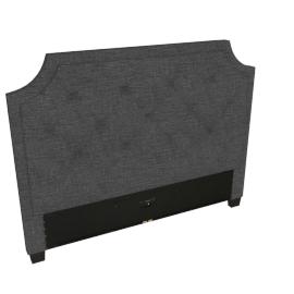 Stellar Neo Queen Headboard, Dark Grey
